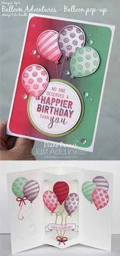 JAI 347 colour challenge - balloon pop up birthday