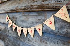 embroidered felt bunting.