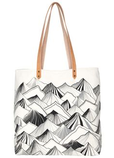 Mountain Tote Bag - Natural - Nell & Mary