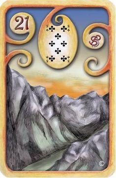 Baralho Cigano – A Montanha - Carta 21 - Linha das Águas