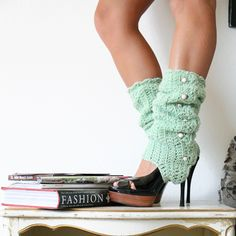 Legwarmers with Stirrups and Buttons by mademoisellemermaid, $55.00