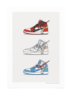 best sneakers bbe47 92ec0 Off White Jordan 1 Print KickPosters.com Nike Wallpaper Iphone, Hype  Wallpaper, White