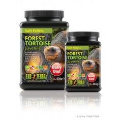 Tortoise food formulated to ensure proper growth and healthy diet.