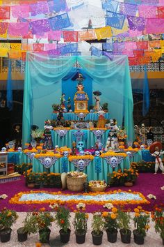 Altar for Dia de Muertos (Day of the Dead) in Atlixco