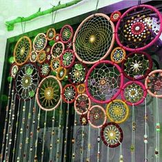 DIY Dream Catchers Decor Your bedroom; Home decor boho style; how to make a dream catchers; DIY wall decor ideas DIY Dream Catchers Decor Your bedroom; Home decor boho style; how to make a dream catchers; Dream Catcher Decor, Dream Catcher Boho, Dream Catchers, Large Dream Catcher, Crochet Curtains, Beaded Curtains, Boho Stil, Décor Boho, Diy Crafts To Sell