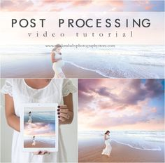 Awesome post processing video showing how to edit super dreamy beach images! Covers everything from start to finish using photoshop CS5.   More video tutorials at www.modernbabyphotographystore.com