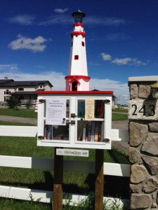 Little Free Library in Alberta, Calgary...this is going in our yard in K-Port once that house is mine