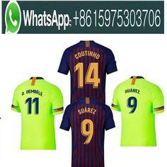 5387e7f16 2018 Barcelona SUAREZ O.DEMBELE Jerseys 2018 2019 Camisas Coutinho Messi  INIESTA PIQUE Soccer Jersey