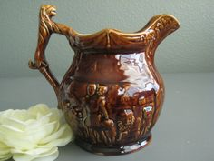 Arthur Wood Lion Handled Jug or Pitcher / Antique Teapot/ Lion Teapot Made in England