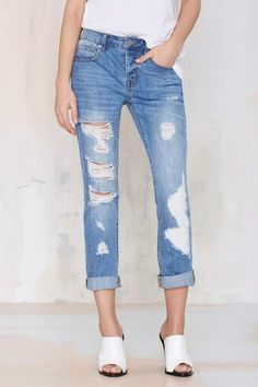 Nasty Gal Denim - The Distress Less Slim - Denim | Denim | All | Denim | Denim
