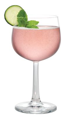 Ingredients 2 oz Chambord Flavored Vodka¾ oz Fresh Lime Juice¾ oz Simple Syrup8 Mint Leaves1 Thick Cucumber SliceTop with Ginger AleChambord-Vanilla Foam Instructions Muddle cucumber and mint in syrup and lime juice. Add Vodka and shake very well with ice. Strain into an ice-filled wine glass. Top with ginger ale and CHAMBORD-Vanilla Foam. Garnish with a cucumber slice and mint sprig.   - MarieClaire.com