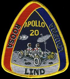 The would be Apollo 20 mission patch.