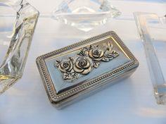 Vintage Repousse Jewelry Box