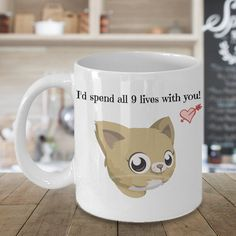 I'd Spend 9 Lives With You, Valentines Gift, Valentines Day Gift, Valentines Mug, Valentines Day Mug, Funny Valentines Gift