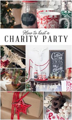 Cocoa and Cocktails Charity Party via Frog Prince Paperie >> #WorldMarket Share the Joy -- money raised to give to charity!