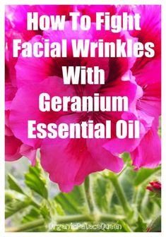 Geranium essential oil to fight wrinkles.