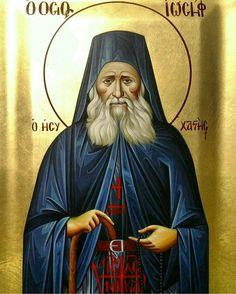 Saint Joseph the Hesychast Saints, Saint Joseph, Byzantine Icons, Religious Icons, Orthodox Icons, Jesus Christ, Princess Zelda, God, Fictional Characters