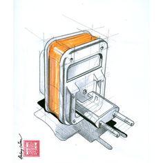 Charger #idsketching #industrialdesign #designsketching