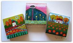 latest 3 little house paintings by Regina Lord (creative kismet)