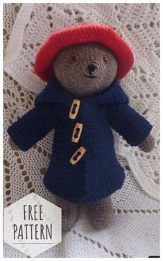 Paddington Bear Party Ideas & Crafts - calling all Paddington Bear Fans. These are some of the cutest and EASY Paddington Bear Crafts and Ideas. Perfect for the best Paddington Bear Party or for a lovely Paddington Craft-ternoon. More info on Red Ted Art! Crochet Cross, Crochet Bear, Cute Crochet, Crochet Animals, Crochet Dolls, Amigurumi Patterns, Crochet Patterns, Amigurumi Doll, Paddington Bear Party