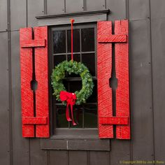 decorative shutter LOVE... would not do the Maker's Mark design... but red plus a stenciled cutout is lovely!
