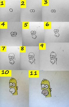 Homer Simpson, How to drow :)