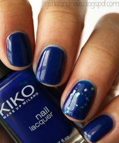 Glitter and Nails: Kiko 335 ou du bleu Klein sur mes ongles
