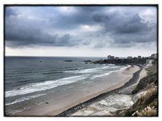 Plage de la Côte des Basques, Biarritz, France.