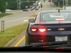Someone pixellated the batman symbol into their tail light.