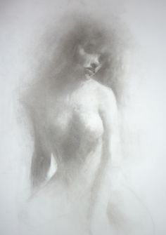 """Saatchi Online Artist: Patrick Palmer; Charcoal, 2011, Drawing """"Out of the smoke"""""""