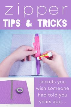 Take your sewing skills to the next level by learning how to insert a centered zipper… the easy way!