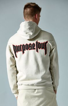 Purpose Tour All Access Tan Pullover Hoodie