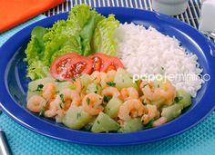 Chuchu com camarão