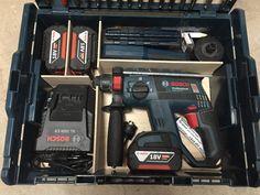 Nerf Gun Storage, Tool Storage, Van Racking, Bosch Tools, Basement Workshop, Workshop Storage, Tool Organization, Tool Box, Woodworking