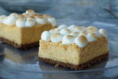Fans of sweet potato casserole know: Sweet potatoes rock! Not surprisingly, they also rock in these marshmallow-topped cheesecake bars.