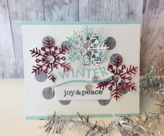 Joy & Peace Card by Danielle Flanders for Papertrey Ink (October 2014)