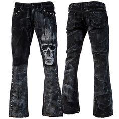 Stage Pants CSG - Distressed Black Denim WSCP-160 – Wornstar