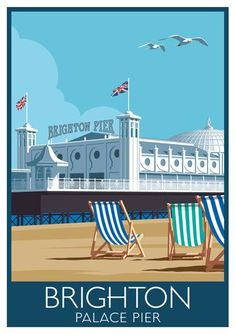 Image result for art nouveau travel posters for Brighton