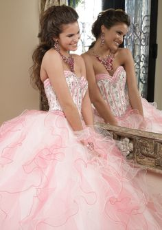 88021 Quinceanera Gown 88021 Satin and Tulle with Embroidery and Beading