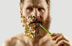 Adriano Alarcon Shaves off Half His Beard To Fill It In With Amusing Objects | iGNANT.de