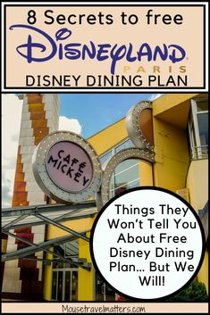 Will the Disney Dining Plan save you money at Disney World restaurants? Check out a few secrets about Disney Dining Plan before making your purchase. Disneyland California Adventure, Disneyland Vacation, Disney California, Disney Vacations, Disney Tips, Disney Parks, Walt Disney, Disneyland Paris Castle, Disneyland Secrets