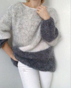Crochet Wool, Crochet Hats, Simple Kurta Designs, Crochet Basket Pattern, Made Clothing, Mohair Sweater, Knit Fashion, Knitting Designs, Crochet Clothes