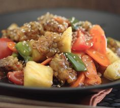 Tempeh Stir Fry With Bell Peppers in Teriyaki Sauce (A Vegetarian and Vegan Recipe)