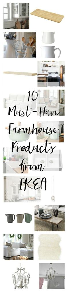 IKEA can be frustrating to navigate through if you don't have a plan. Here are our 10 must-have farmhouse products to buy at IKEA!