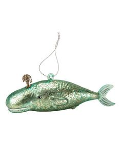 Look what I found on #zulily! Whale Shark Glass Ornament #zulilyfinds