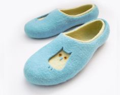 Felted woman slippers BALLOONS by SimplicityOfFelt on Etsy
