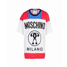 Moschino Cigarette Question Womens Short Sleeves T-Shirt White