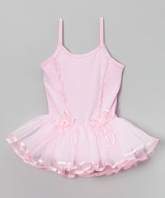 This Pink Flower Ribbon Skirted Leotard - Infant, Toddler & Girls is perfect! #zulilyfinds