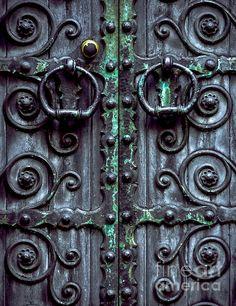 Weathered Gothic Door - photograph by James Aiken james-aiken.artistwebsites.com #jamesaiken #doorway #gothic #oldandused