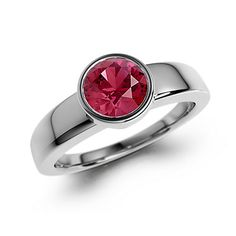 White Gold Ruby Ring - Gemify Circle of Light Ring